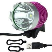 Yimistar # D003 Bike Xe Đạp Phụ Kiện T6 1200LM USB LED Ánh Sáng 3 Chế Độ Đèn Pha Đèn Pha Tăng Bán Buôn