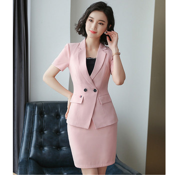 new 2019 Women's suit skirt two-piece suit (jacket + skirt) women's fashion slim business slim professional wear