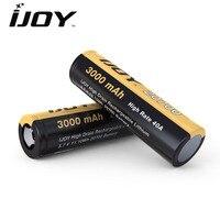 2 Pçs/lote Ijoy 20700 Bateria 3000 mah Li-Ni 40A Alta Drenagem E Caixa Capitão PD270 IJOY cigarro Recarregável Bateria para Cigarros eletrônicos Mod