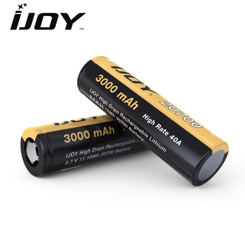 2PCS/lot Ijoy 20700 Battery 3000mah 40A Li-Ni High Drain E Cigarette Rechargeable Battery For E Cigs IJOY Captain PD270 Box Mod
