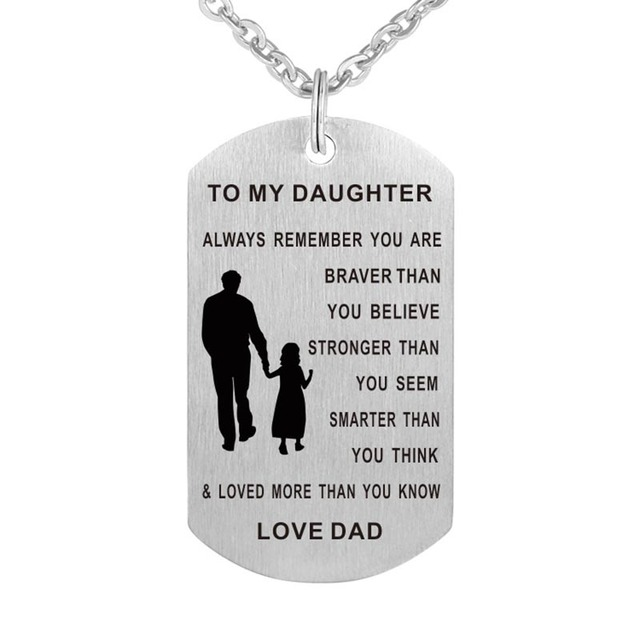 My daughter necklace dog tag stainless steel father daughter pendant my daughter necklace dog tag stainless steel father daughter pendant necklace nameplated necklace love gift to aloadofball Images