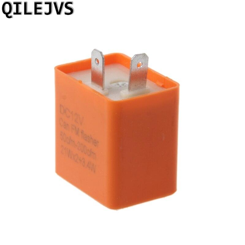 Qilejvs 12v 2 Pin Motorcycle Blinker Adjustable Led Flasher Relay Turn Signal Indicator #1