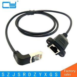 Image 1 - 0.3 M 1.5 M Down Schuine 90 Graden 8P8C FTP STP UTP Cat 5e RJ45 Man vrouw Lan Ethernet Netwerk Verlengkabel (met schroef)