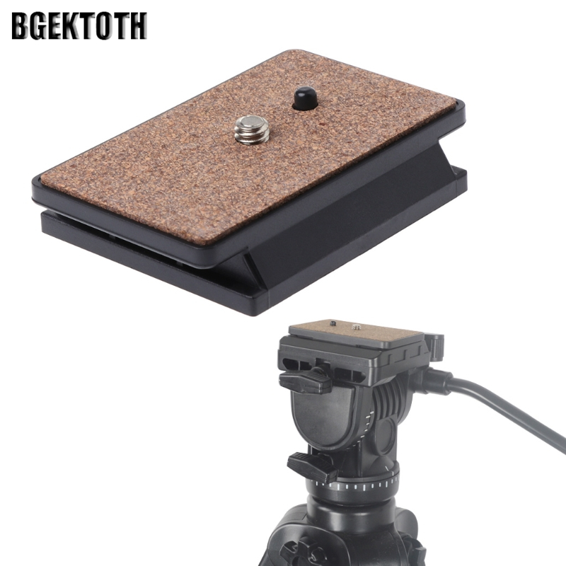 2018 High Quality BGEKTOTH Tripod Quick Release Plate Screw Adapter Mount Head For YUNTENG 288 DSLR Camera