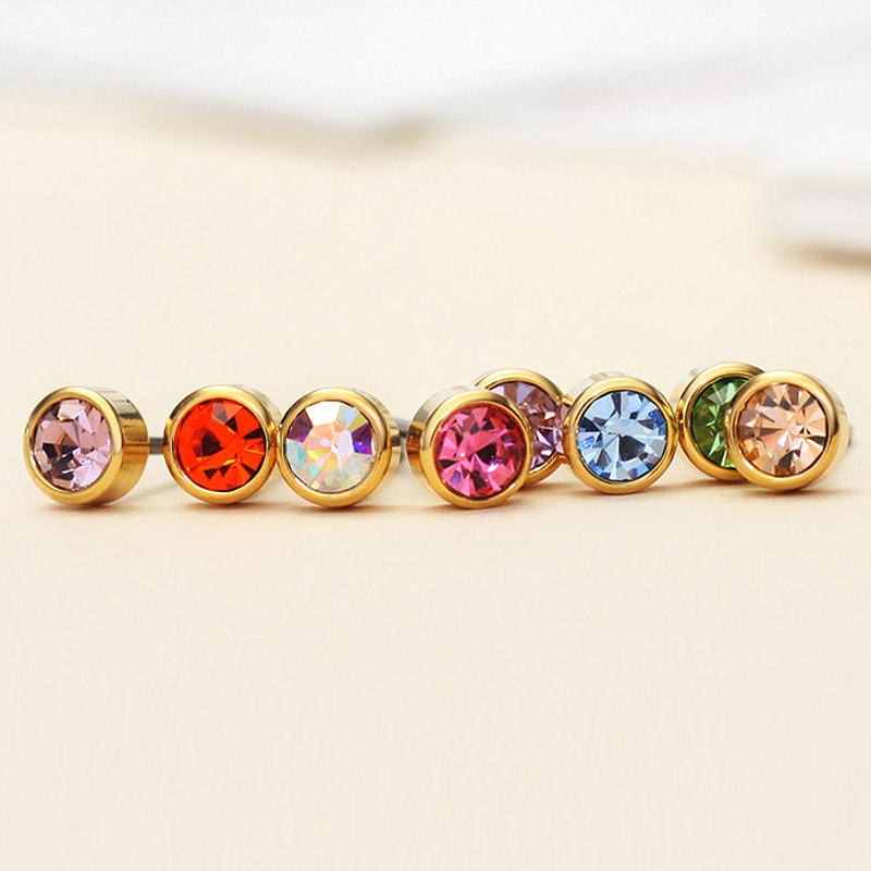 Neoglory Austria Berlian Imitasi Pesona Cahaya Warna Kuning Emas - Perhiasan fashion - Foto 5