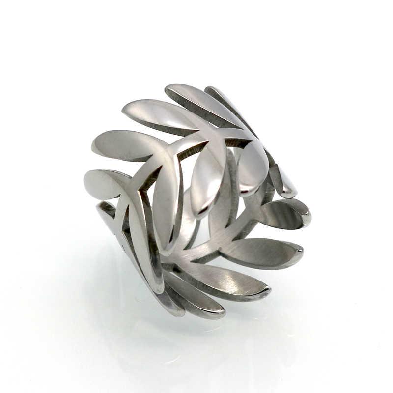 BORASI ยี่ห้อคลาสสิก GORGEOUS TALE Delicate Leaf สาขาแหวนทุกวันผู้หญิงเครื่องประดับแหวนสำหรับงานแต่งงานเจ้าสาว