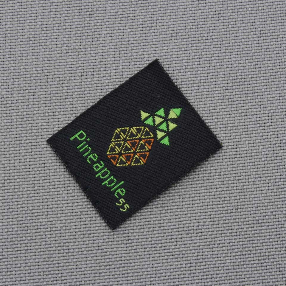 Personal brand cut folded garment labels custom private woven labels and tags 1000pcs lot