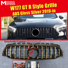 Fit For W177 Grille Grills ABS Silver Front Mesh Without Sign A-Class W177 A180 A200 A250 New GTS Style Grille With Camera 2015+