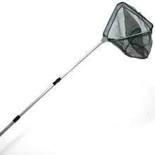 Portable Triangular Brail Folding Fishing Net Landing Net 3 Section Extendable Aluminium Pole Handle 65-173cm Fishing Tackle
