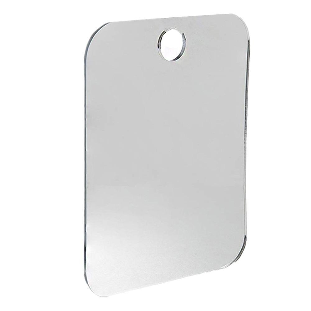 US Anti Fog Shower Mirror Bathroom Fogless Mirror Washroom Travel Househeld