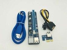 100 ADET VER 008C Yükseltme Sürümü USB3.0 PCI Express Yükseltici Kartı 1x ila 16x Genişletici 6Pin Güç Kablosu için BTC madenci Madencilik Makinesi