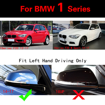 Bmw Espejo Lateral | Para 1 Serie De Cubiertas De Espejo Lateral De Fibra De Carbono Real Para BMW F20 Hatchback 12-17 Coupe 4 Reemplazo De Puerta M Sport 120i LHD