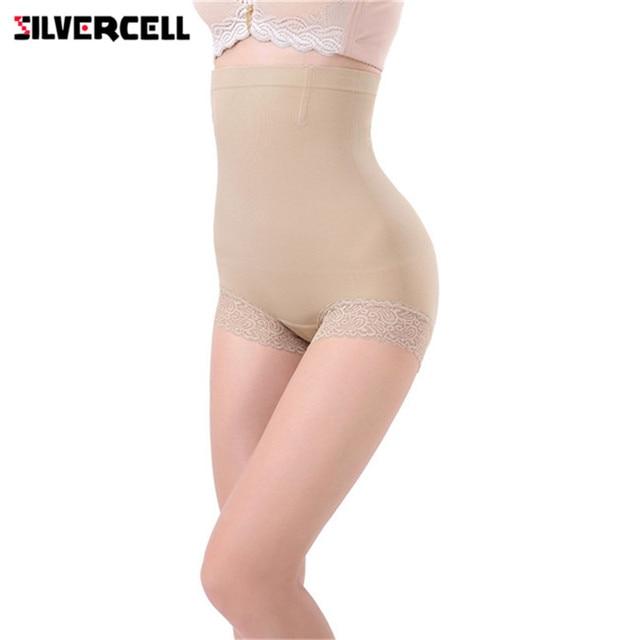 cb84b1da3c6 SILVERCELL Hot Body Shapers Seamless Women Brief High Waist Trainer Belly Control  Shapewear Pants Shorts