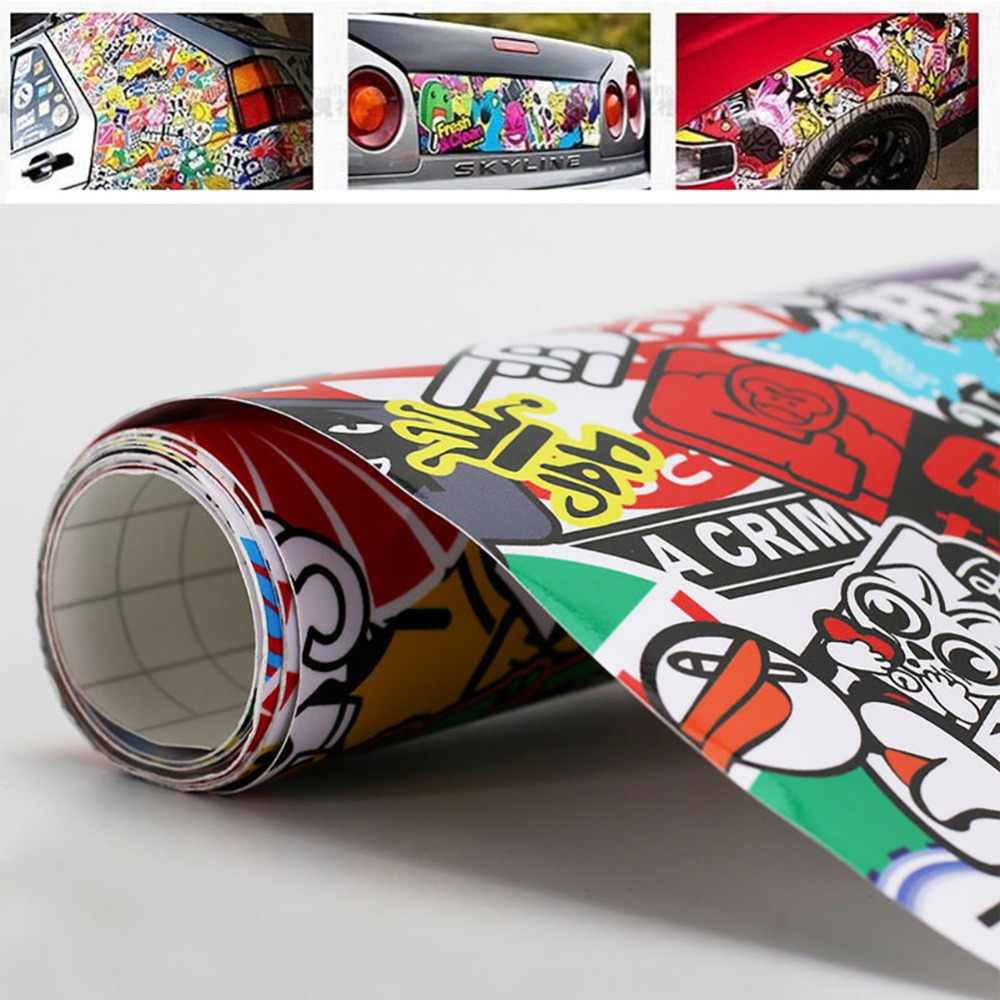 "Auto 20 ""x 30"" Rock Del Panda Del Fumetto Graffiti Sticker Bomb Wrap Copriletto Decal Sticker auto-styling"