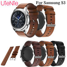 Genuine luxury Classic Leather Strap For Samsung Gear S3 Band Frontier Watchband 22mm Watch Bracelet