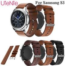 Genuine luxury Classic Leather Strap For Samsung Gear S3 Band Frontier Strap For Gear S3 Classic Watchband 22mm Watch Bracelet цена