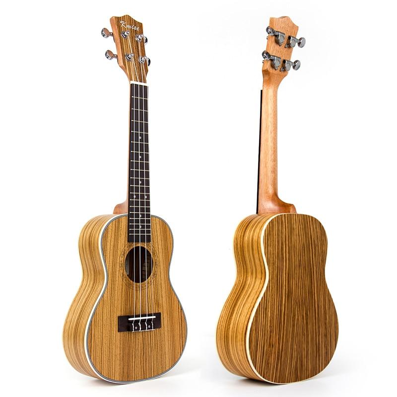 цена Kmise Concert Ukulele Zebrawood Ukelele Uke 23 Inch 18 Frets 4 String Hawaii Acoustic Guitar онлайн в 2017 году