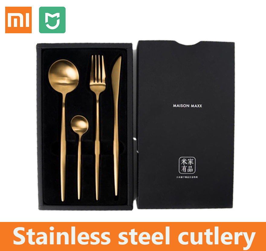 Dedicated Xiaomi Mijia Stainless Steel Cutlery Fork Knife Ins Fashion Stylish Dinner Steak Dessert Soup Butter Serving Knife Spoon Fork To Have Both The Quality Of Tenacity And Hardness