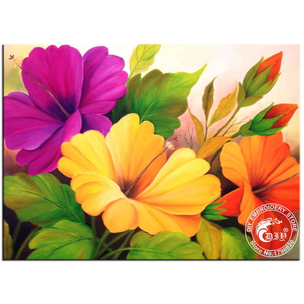 Buy hibiscus flower paintings and get free shipping on aliexpress izmirmasajfo Choice Image