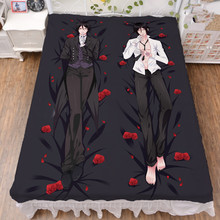 Black Butler Kuroshitsuji Anime Printed Bedsheet Throw Blanket Home Decorative Bedding Flat Sheet