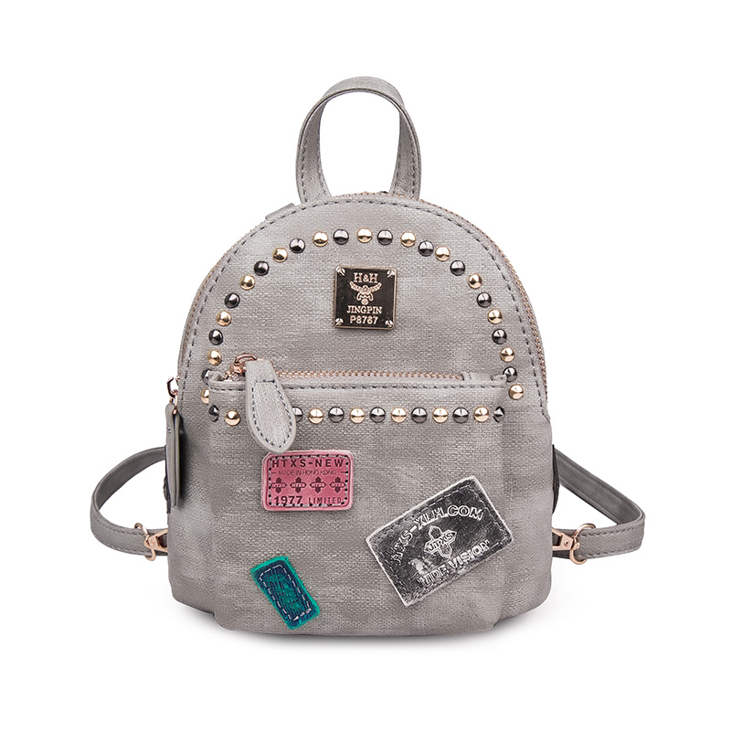 Cool Fashion Rivet Mini Backpacks Personlized European and American Street Shoulder Bags Cute Wild Travel Backpacks