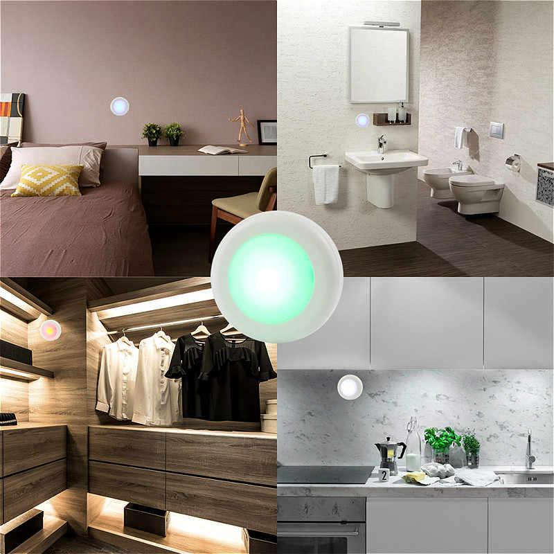 Беспроводная Светодиодная лампа в шкаф RGB 13 цветов затемняемая Ночная лампа сенсорный датчик светодиодный светильник для гардероба лестницы Прихожая кухня туалет
