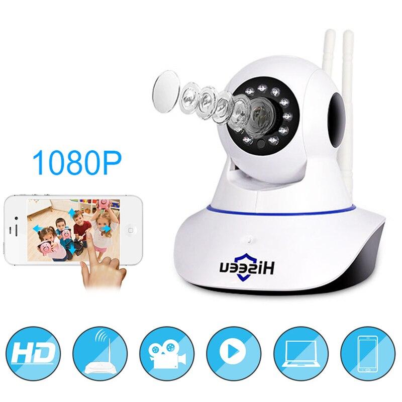 Hiseeu Wifi Caméra Full Hd 1080 p Audio Bidirectionnel Baby Monitor Détection de mouvement PTZ Surveillance Mini Vidéo Caméra Soutien TF Carte
