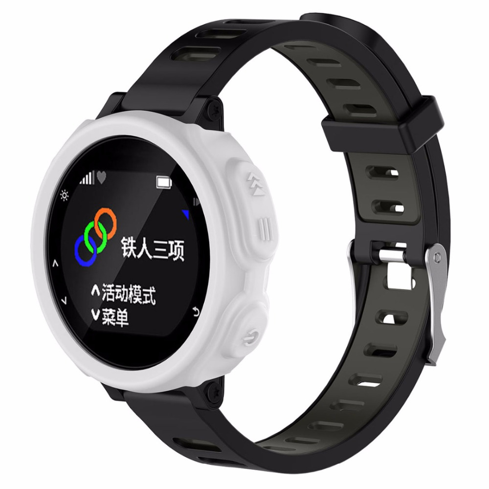 NEW High-quality Silicone Band Cover Case Protector For Garmin Forerunner 235 735XT GPS Sports Watch