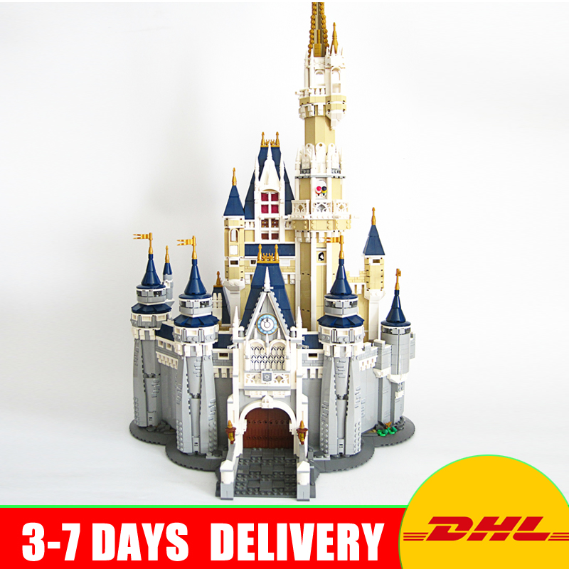 LEPIN 16008 Cinderella Princess Castle City 4080pcs Model Building Block Kid Toy Gift Compatible 71040 lepine 16008 cinderella princess castle 4080pcs model building block toy children christmas gift compatible 71040 girl lepine