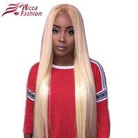 Sueño de Belleza #613 Blonde Pelucas 130% Densidad Recto Sedoso Remy Brasileña Del Cabello Humano Peluca del frente del cordón