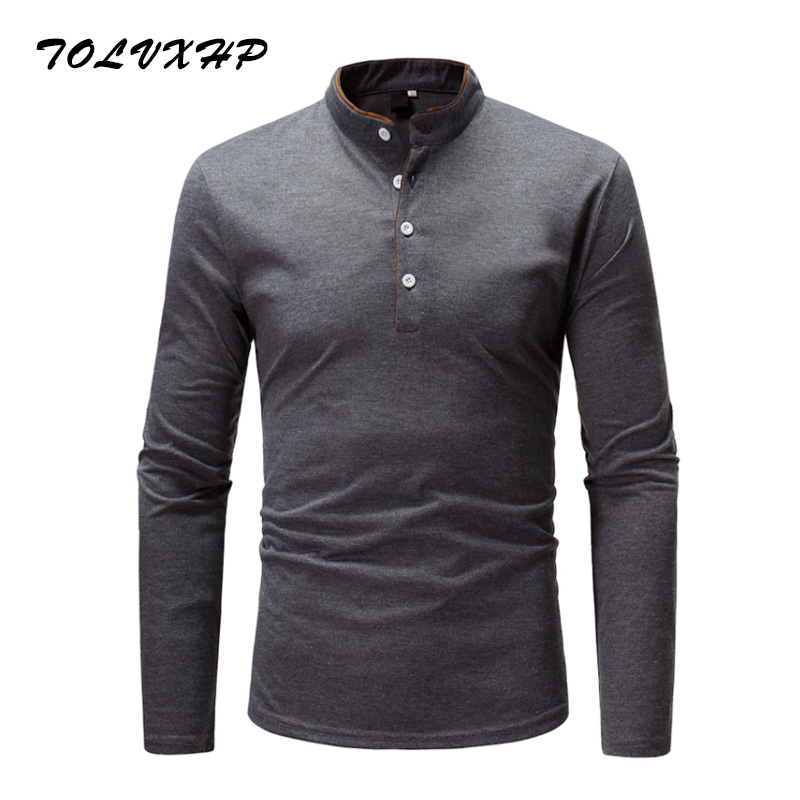 2018 Summer New Fashion Brand Clothing Tshirt Men Solid color Slim Fit Short Sleeve T Sh ...