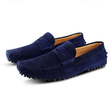 US6-12 Genuine Leather Comfort SLIP-ON Penny Loafers Men Car Shoes Moccasins Fashion Boat Shoes men's loafers