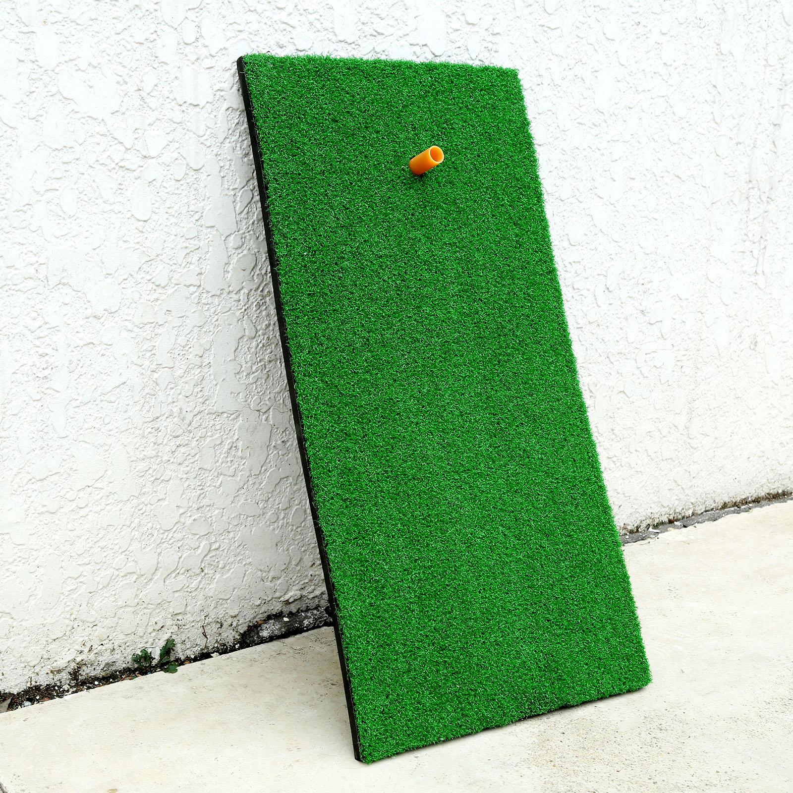 SURIEEN 30X60cm 1Pc Backyard Golf Mat Residential Training Hitting Pad Practice Rubber Tee Holder Grass Green Golf Training Aids