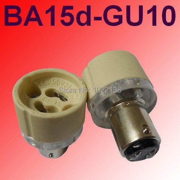 Lamp Holder Converters Free Shipping 1157 Ba15d-gu10 Holder Lamp Converter Ba15d To Gu10 Led Light Bulb Base B15 To Gu10 Lamp Socket Adapter 100pcs/lot For Fast Shipping