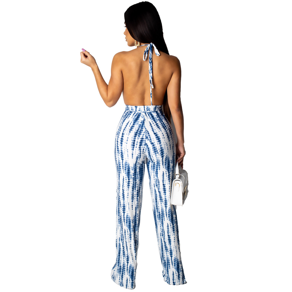 Stripe Print Sexy Rompers Womens Jumpsuit Sleeveless Backless Full Bodysuits Hollow Out Lace Up Bodycon Bandage Summer Jumpsuit