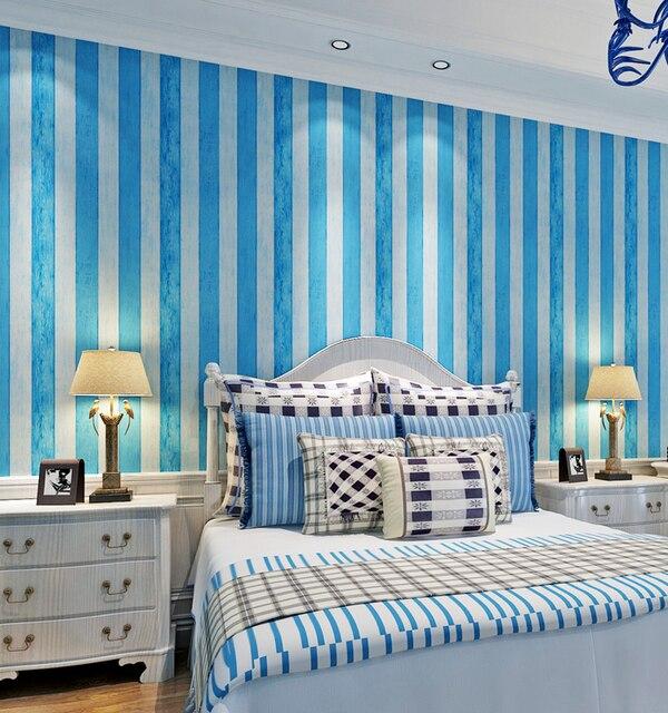 aliexpress.com : acquista hanmero 0.53x10 m rotolo stile semplice ... - Soggiorno Blu E Bianco