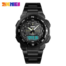 SKMEI Men Watch Fashion Quartz Sports Watches Stainless Steel Mens Top Brand Luxury Business Waterproof Wrist