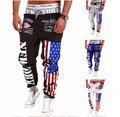 Топ-Дизайна 2017 Личность Случайные Брюки Мужские Бегунов Американский Флаг Звезды Печати Брюки Комбинезоны Штаны Hip Hop Шаровары