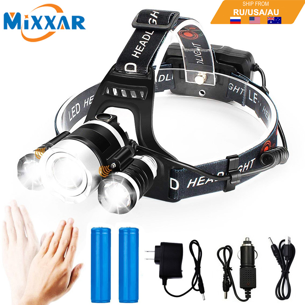 Portable Lighting Lower Price with Yunmai 9000lm T6 Led Sensor Motion Sensing Headlamp Zoom Waterproof Headlight Head Light Lamp Flashlight Torch 18650+battery M24 Lights & Lighting