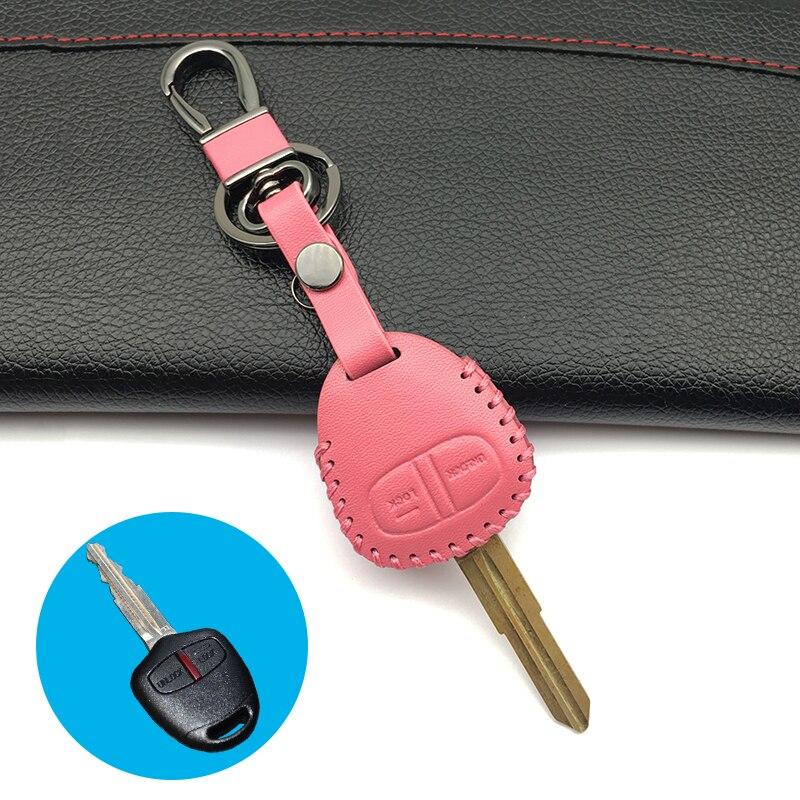 100% кожаный чехол для автомобильного ключа, чехлы для Mitsubishi outlander ASX colt LANCER Grandis Pajero, спортивный Чехол, автомобильные ключи, аксессуары