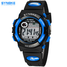 2017 Fashion SYNOKE Brand Children Watches LED Digital Quartz Watch Boy And Girl Student Multifunctional Waterproof Wristwatches