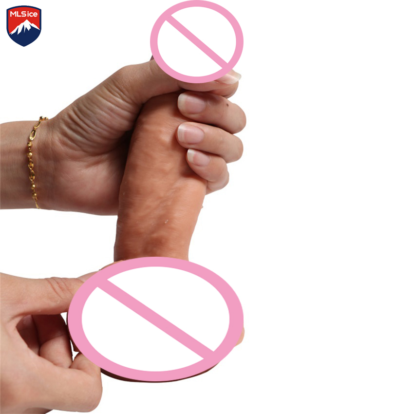 Mlsice Double Soft Silicone female dildo Realiste With suction Cup Adult Products Penis Sex toys for women Gay Anal Sex Vaginal auto handfree retractable piston pricky male masturbation cup for men penis massage aircraft cup passion cup adult sex products