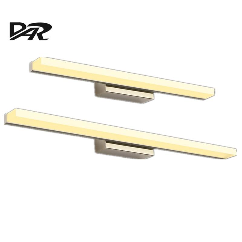 Mode Linéaire Acrylique LED Miroir Lumière 0.4 M ~ 1.5 M Blanc Abat-Jour Salle De Bains Lumière Applique Murale Luminaire Moderne LED mur lampe