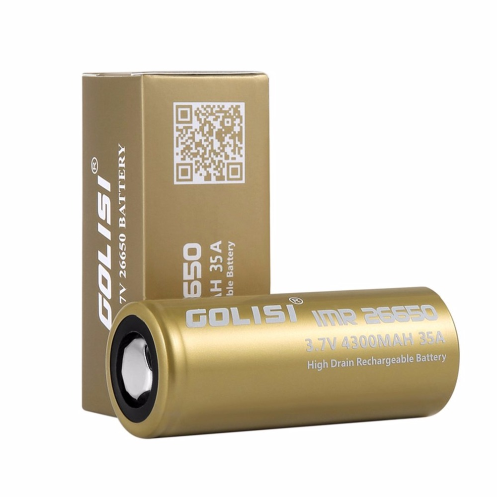 GOLISI S43 26650 Rechargeable Battery Li-ion 4300mAh 3.7V 35A High Drain Low Internal Resistance for LED Flashlights Headlamps аккумулятор 18650 lg he4 high drain 2500mah 20a 35a