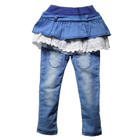CHANGYUGE Spring Autumn Girls Jeans Casual Kids Jeans For Girls New Fashion Children S Skirt Pants