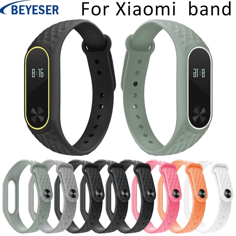 Rubber Strap For Xiaomi Mi Band 2 Sport Silicone Watch Belt For Xiaomi Mi Band2 Bracelet Wrist Bands Watch Smarten Watchbands