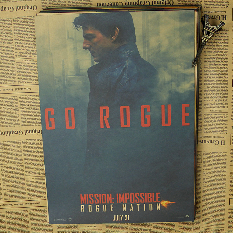 Mission Impossible Rogue Nation 2 Movie Poster Canvas Picture Art Print A0 A4