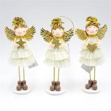 New Angel Wings Girl Doll Christmas Decorations Xmas Tree Pendant Home Desk Decor Year Gift For