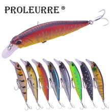 Купить с кэшбэком Proleurre 1Pcs Minnow Fishing Lure Isca Artificial Bait 11cm 13.5g Fishing Wobblers Hard Bait Minnow Crankbaits Lures Min-522