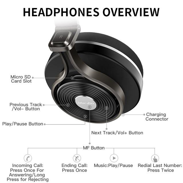 Bluedio T3 Plus Wireless Bluetooth Headphones with Microphone/Micro SD Card Slot bluetooth